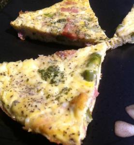 Frittata Asparagus Ham Cheddar
