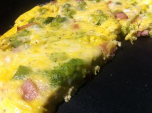 Frittata Cheesy Ham and Broccoli