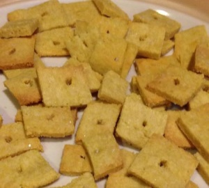 cheeseless crackers