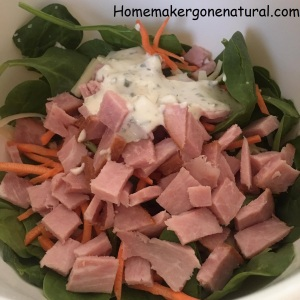ham salad w ranch dressing